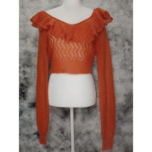 🆕Free People🚺 Loose Knit Cropped Mohair Wool